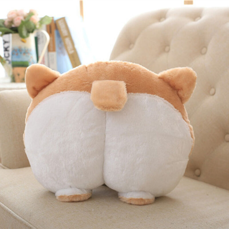 Cute Novelty Corgi Bottom Warm Pillow Dog Buttocks Hand Cush