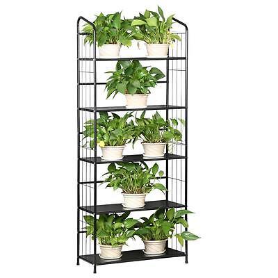 US 2 Tier Indoor Outdoor Flower Pot Holder Plant Stand Garden Décor ...