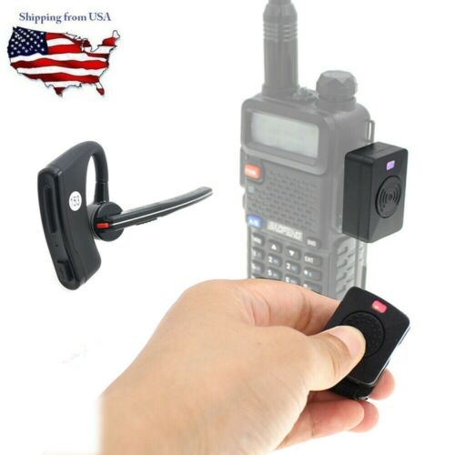 Wireless Handsfree Bluetooth Headset Suppot PPT for K Adapter 2 Way Radio Mobile