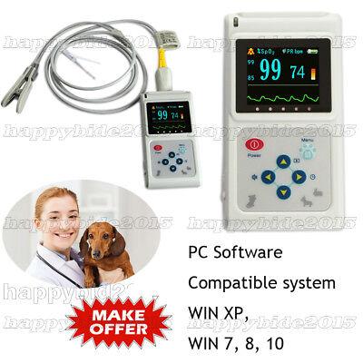 Us Seller Vet Veterinary Pulse Oximeter Spo2 Pr Monitor Battery Pc Sw