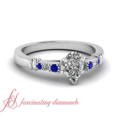 .60 Ct Pear Shaped Cut:Very Good Diamond Engagement Ring 14K SI2 GIA Certified