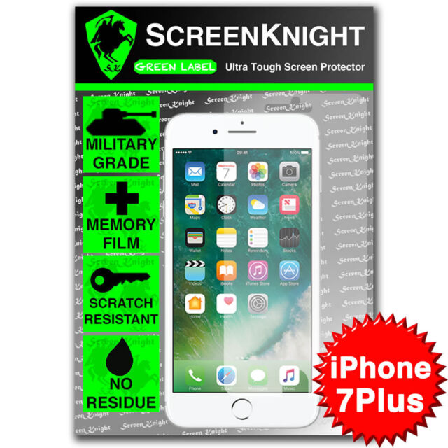 "ScreenKnight Apple iPhone 7 Plus 5.5"" FRONT SCREEN PROTECTOR Military shield"