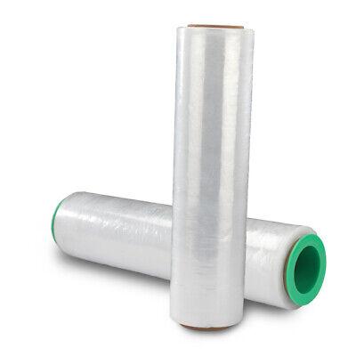 2 Rolls Hand Stretch Plastic Film Shrink Pallet Wrap 18 X 1500 Ft Heavy Duty