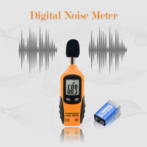 Digital LCD Schallpegelmesser Noise Dezibel Monitoring Tester 40-130dB Messgerät