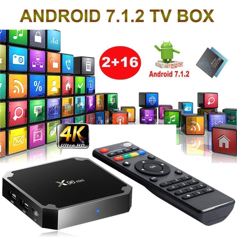 X96 mini Android 7.1.2 TV Box 2GB/16GB S905W QuadCore H.265 HD Media Player S8H3
