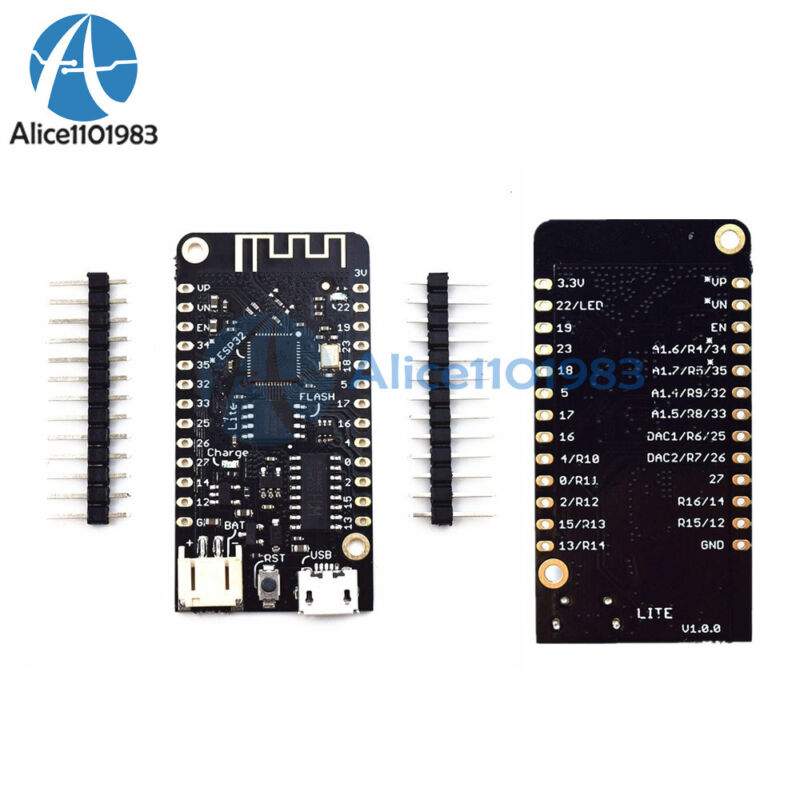 Wemos Lite V1.0.0 Wifi & Bluetooth Card Esp32 Rev1 Micropython 4mb Flash