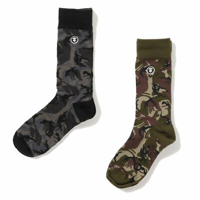 A BATHING APE Goods Men's - AAPE SOCKS 2colors Camo From Japan New
