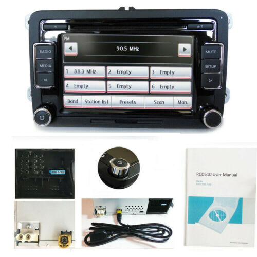 VW Autoradio RCD510 USB AUX Golf POLO Tiguan Passat Caddy Handbuch&Kabel
