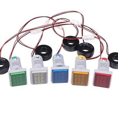 3 In 1 Square Shape Digital Ac Panel Ammeter Voltmeter Frequency Hz Hertz Meter