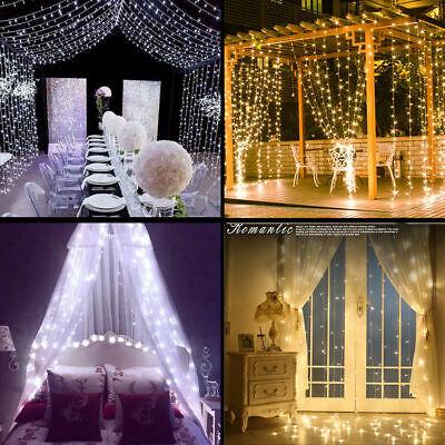 Easy Wedding Decorations (300 600 LED Curtain Light  Light Easy Set Up Backdrop Wedding Kids Bedroom)