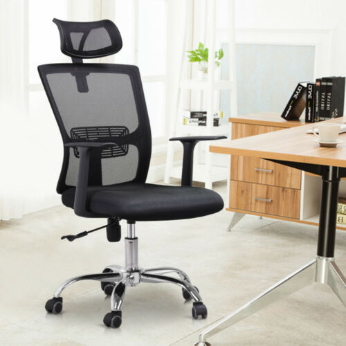 High Back Mesh Office Chair Adjustable Ergonomic Swivel Comp