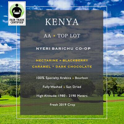 5 LB Kenya AA Nyeri Barichu High Altitude Specialty Unroasted Green Coffee Beans 5 Lb Green Coffee