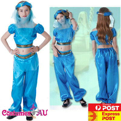 Girls Arabian Genie Aladdin Costume Arab Jasmine Princess Book Week Fancy - Arab Princess Costume