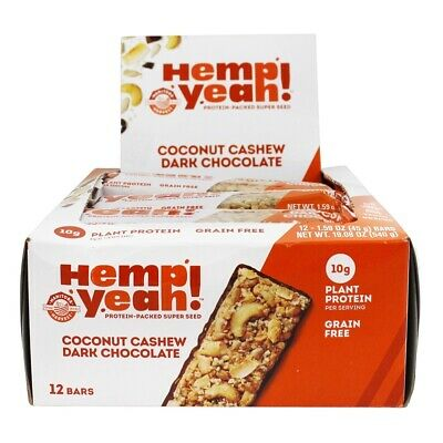 Manitoba Harvest - Hemp Yeah Protein Packed Super Seed Bars Box Coconut Cashew