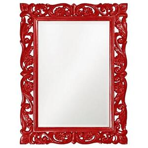 "Howard Elliott Chateau Mirror. Glass. Great Beautiful Display. High Style Design. Quality Frame. Daises. 31"" x 41"". NEW."