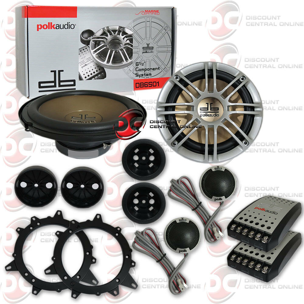 "BRAND NEW POLK AUDIO 6.5-INCH 6-1/2"" 2-WAY CAR MARINE AUDIO"
