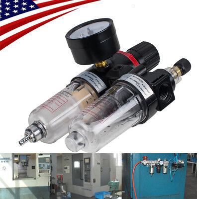 Pro Air Pressure Regulator Oil Water Separator Trap Filter Airbrush Usa