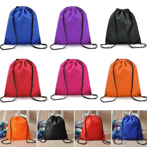Strappy String Drawstring Back Pack Cinch Sack Gym Tote Bag