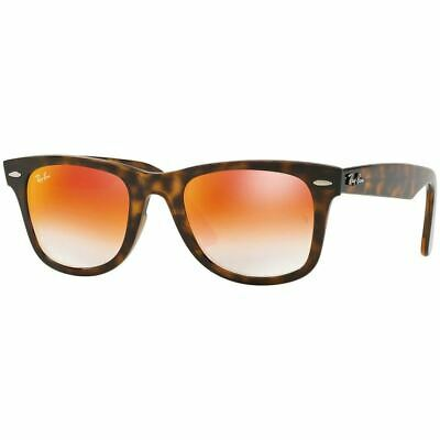 Ray-Ban Wayfarer Ease Unisex Sunglasses W/Orange Gradient Mirrored Lens RB4340 (Orange Mirrored Wayfarer Sunglasses)