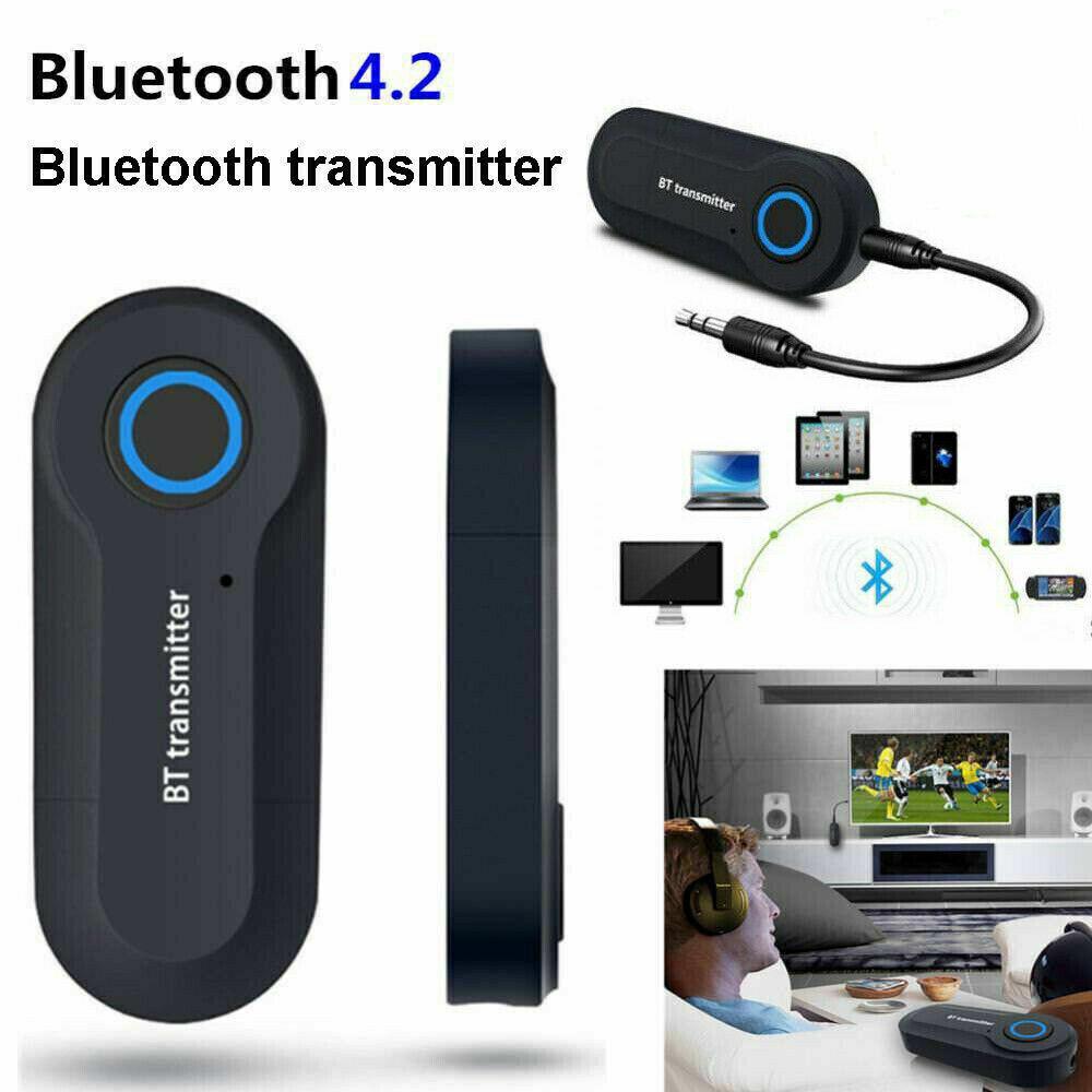 Bluetooth 4.0 Transmitter Audio Wireless Adapter 3.5mm TV Ja