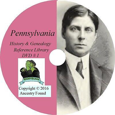 Pennsylvania History Genealogy  164 Old Books On Dvd   Ancestors  County  Cd  Pa