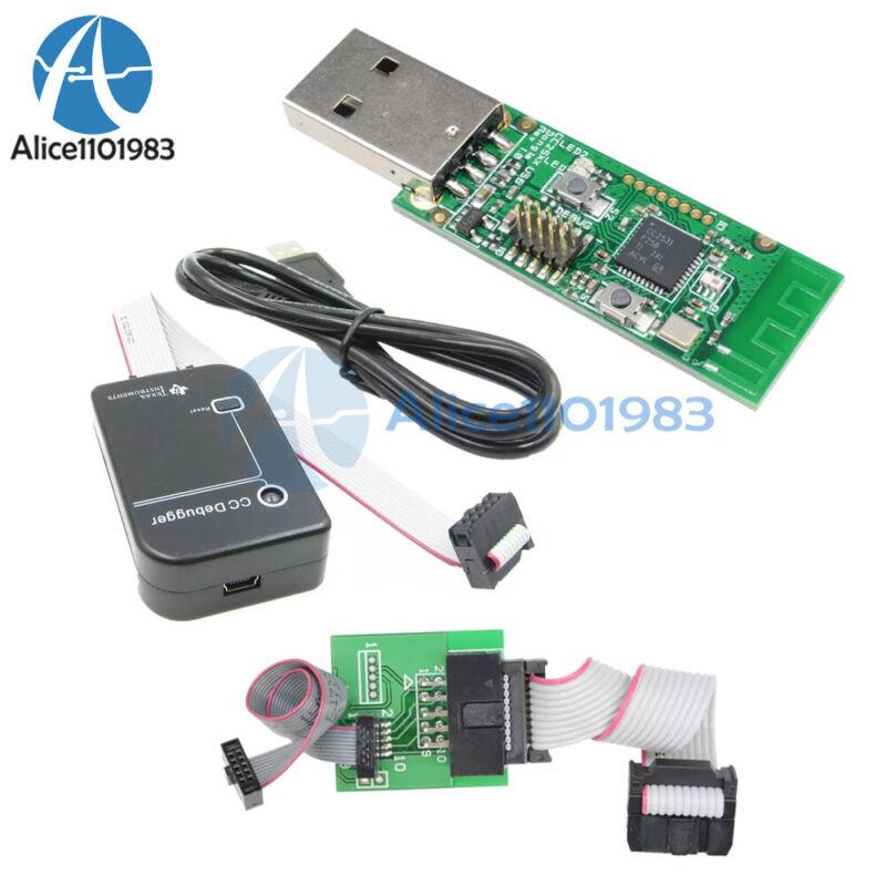 CC2531 Sniffer USB Dongle CC Debugger Emulator and Programm + Downloader Cable