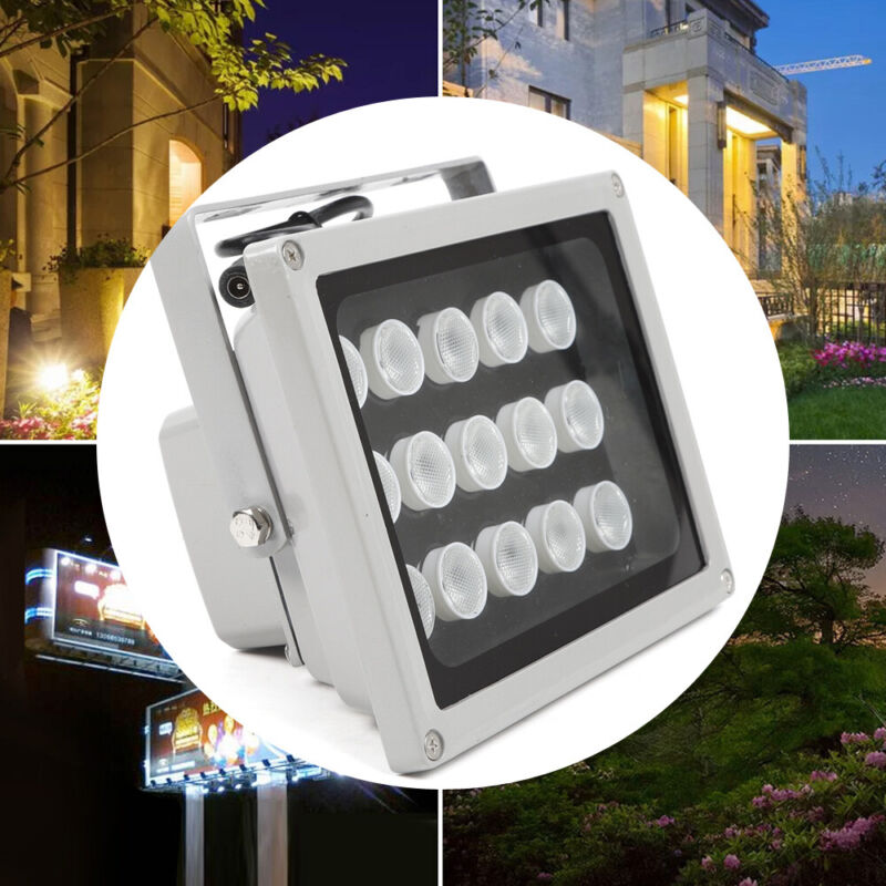 15 LED IR Infrared Illuminator Lamp Night Vision Floodlight 12V For CCTV Camera