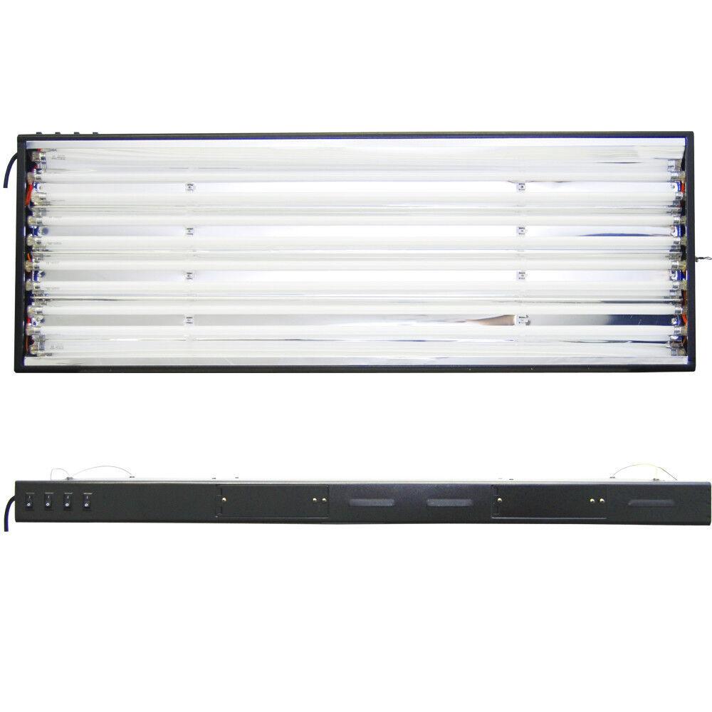 VG 48 Grow Light Hydroponics 8 Lamps 6500K 3000K Bulbs 4 ft