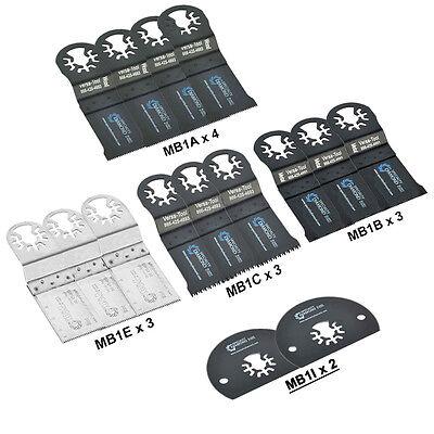 Mbmtkit1 Pack Of 15 Universal Oscillating Multitool Blades Accessory Combo Kit