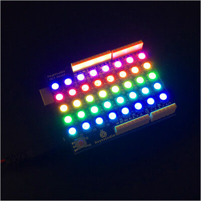 Keyestudio Rgb Led Ws2812b Dot Display Matrix Driver Shield For Arduino Neopixel