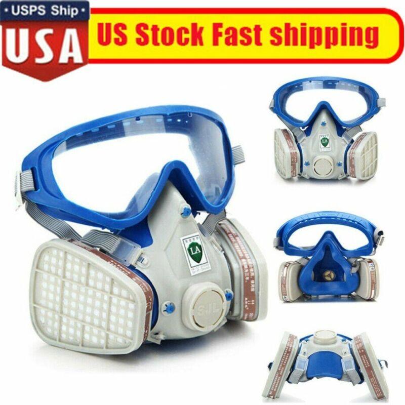 Full Face Gas Mask Respirator Painting Spraying Respirator Facepiece Reusable