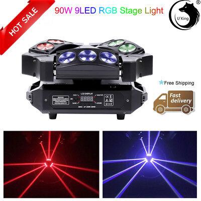 90W 9LED RGB Beam Spider Bird Moving Head Stage Lighting DMX512 Wedding Party