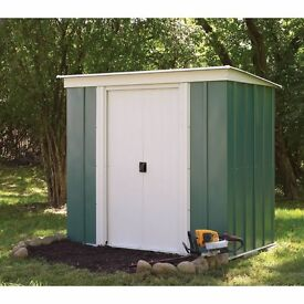 6 x 4 Greenvale Pent Metal Shed.New. Flatpack.