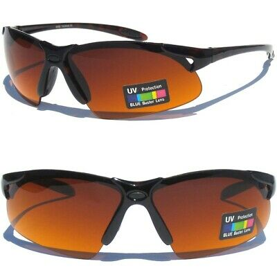 BLUE BLOCKER High Contrast Lens DRIVING SUNNIES SUNGLASSES Tortoise Shell (Lens Contrast)