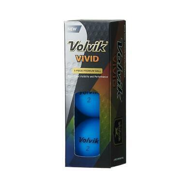 Volvik Leuchtend Golf Bälle X Ärmel von 3 ( Neon Blau )