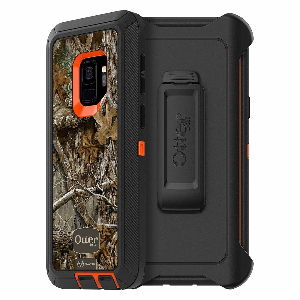 OtterBox DEFENDER Case for Samsung Galaxy S9 -BLAZE ORANGE/BLACK/RT EDGE GRAPHIC