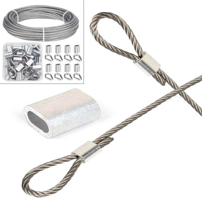 """Vinyl Coated Stainless Steel Cable Wire Rope 100 ft 1/16"""" 7x7 Fit 1/8"""" RailingUS"""