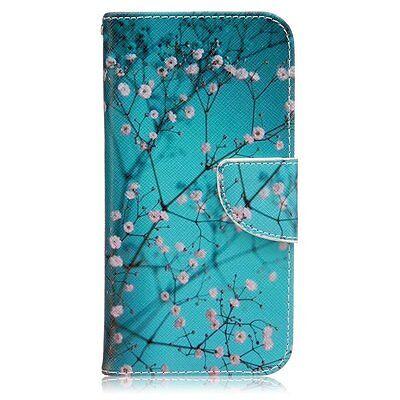 - Plum Blossom Design Premium PU Leather Fold Wallet Pouch Flip Case For LG G5