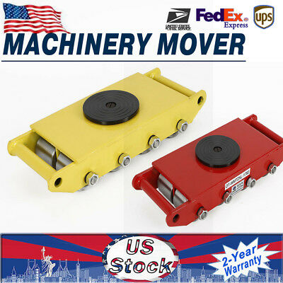12 Ton 26400lbs Machinery Mover Multi Species Pull Dolly Skate W 8 Steel Wheels