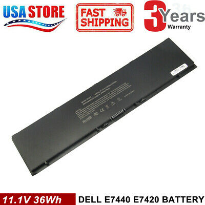 PFXCR 34GKR Battery For Dell Latitude E7440 E7450 T19VW F38HT E7000 PC 37WH