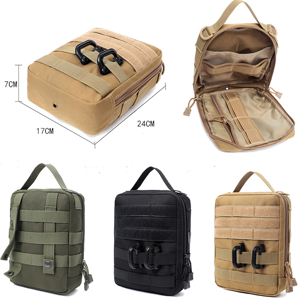 Tactical Molle Bag Women Men Waterproof Travel Camping Lifesaving Kit Tool Pack Bags