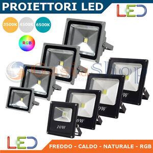 FARO-FARETTO-A-LED-SLIM-LUCE-CALDA-FREDDA-NATURE-RGB-10W-20W-30W-50W-80W-ESTERNO