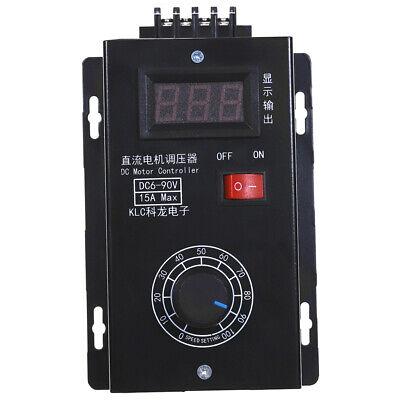 New Dc 6-90v Pwm Motor Speed Controller Regulator Plc 15a Governor Volt Display