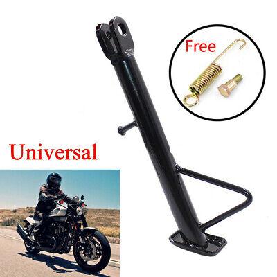 Black Adjustable Motorcycle Kickstand Side Stand Leg Prop Universal CNC Aluminum