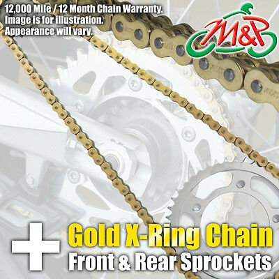 TRIUMPH 900 SPEED TRIPLE 1994 GOLD XRING CHAIN AND SPROCKET KIT