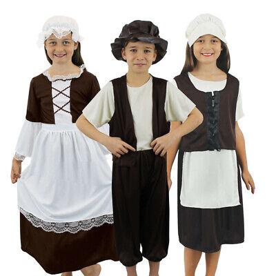 CHILDS POOR TUDOR COSTUMES SCHOOL BOOK DAY KIDS HISTORICAL VICTORIAN FANCY - School Victorian Day Kostüm