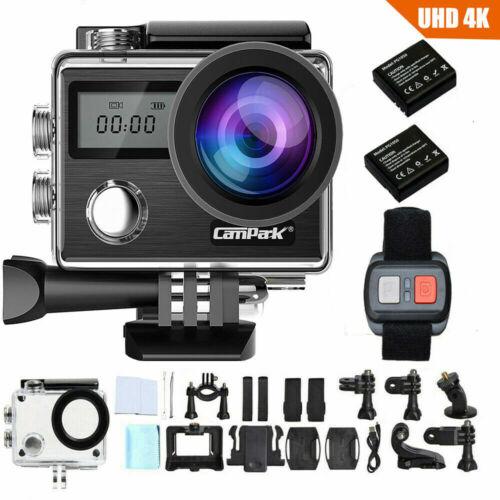 4K Action Cam Campark 20MP Touchscreen Sport Kamera WiFi HD Dual LCD Wasserdicht