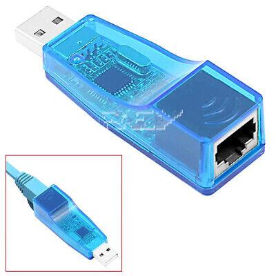 Adaptador USB Macho a Red Ethernet RJ45 Tarjeta Red 10 / 100Mb...