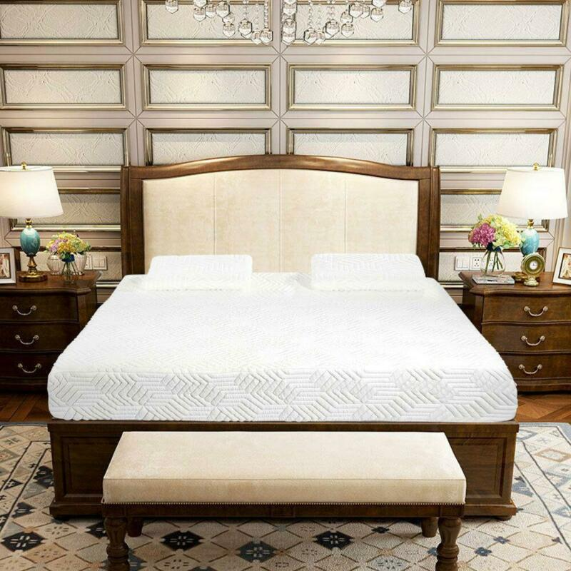 """New Cool Medium Firm Memory Foam Mattress Bed 10"""" Full Size + 2 Free GEL Pillows"""