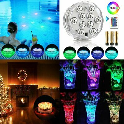 Submersible Swimming Pool Light LED Bulb Underwater 4 Pack Lamps Remote Control